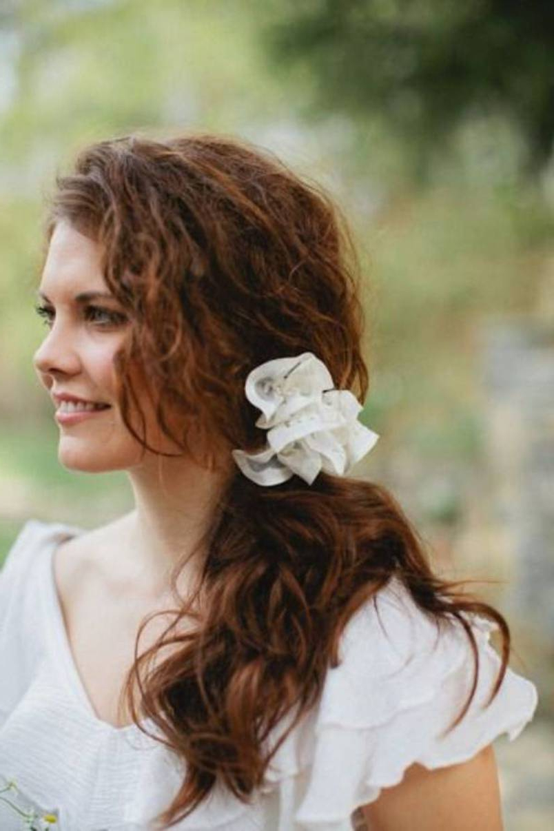 Curly Hairstyle Ideas For Your Wedding Day – Hair World Magazine For Well Liked Curly Ponytail Wedding Hairstyles For Long Hair (View 5 of 20)