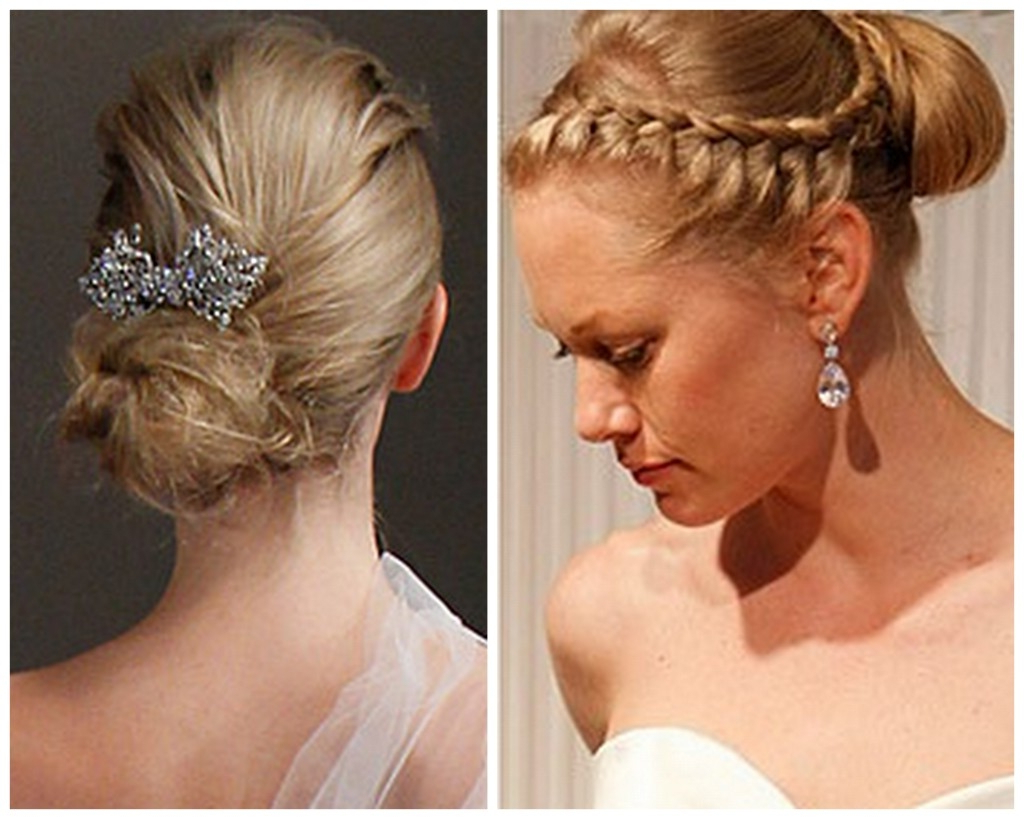 Curly Wedding Hairstyles For Medium Hair Inspire Leads With Well Known Curly Bun Bridal Updos For Shorter Hair (View 3 of 20)