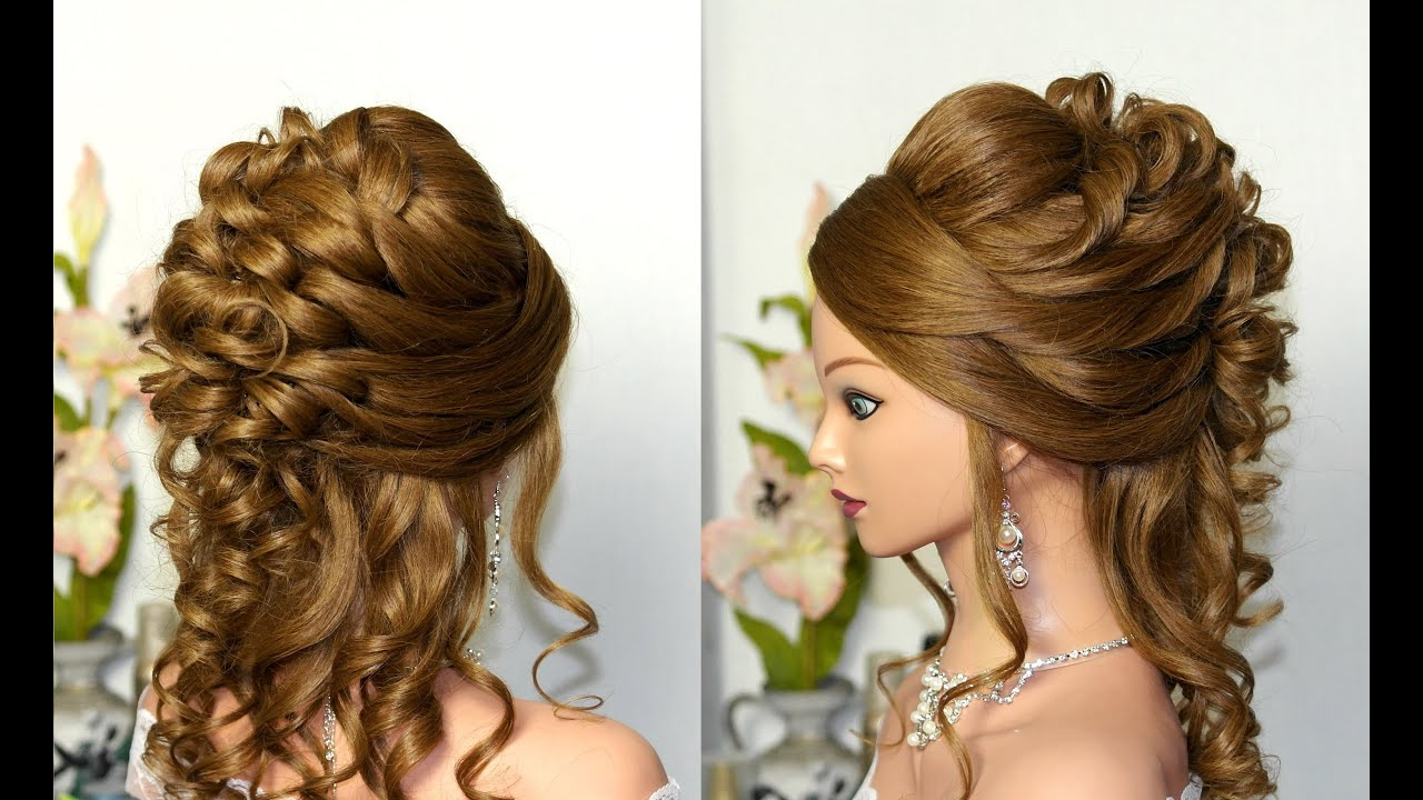 Featured Photo of Formal Curly Updos With Bangs For Wedding