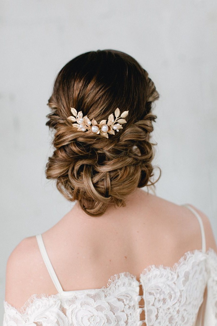 Featured Photo of Embellished Twisted Bun For Brides
