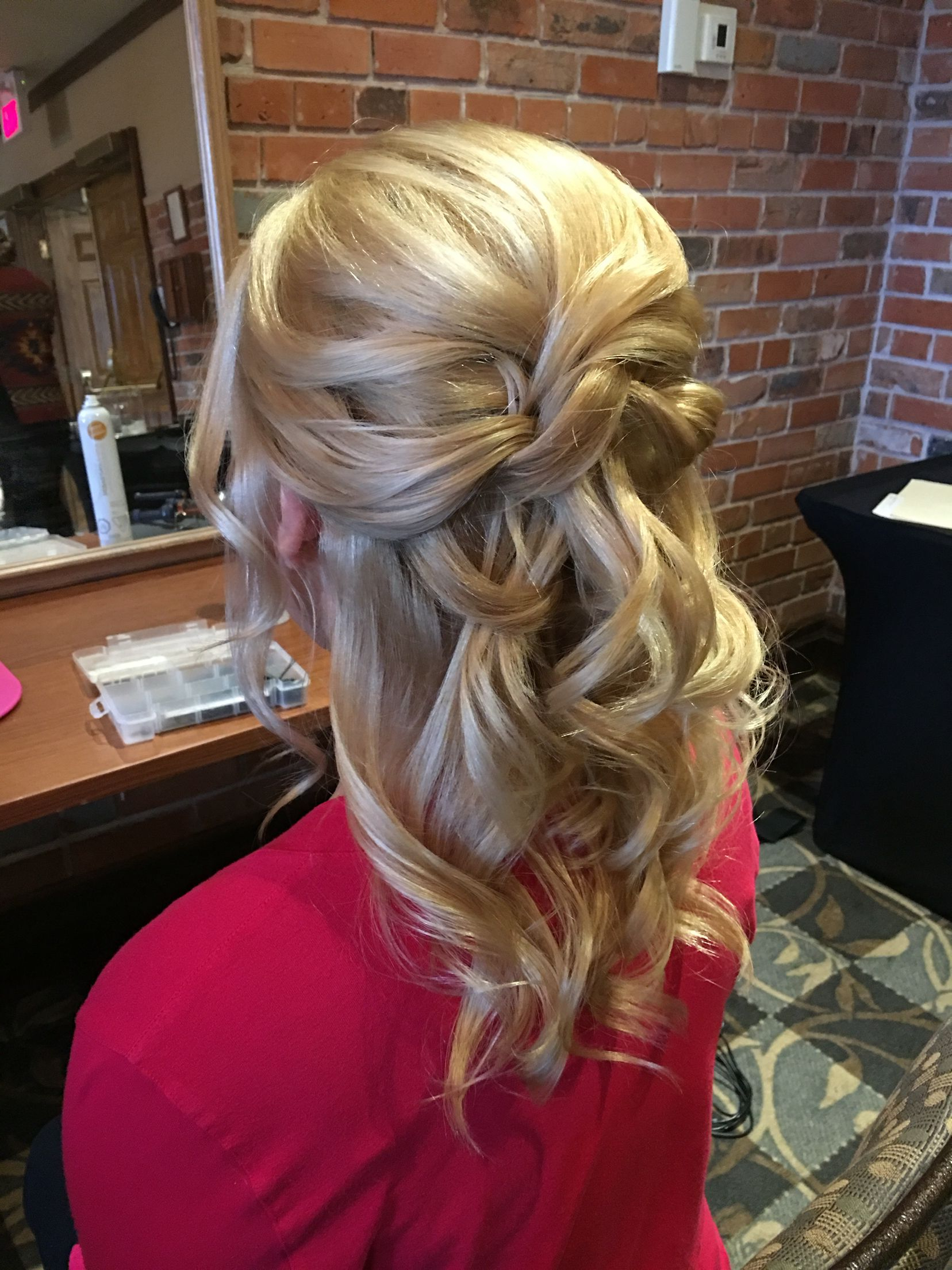 Current Golden Half Up Half Down Curls Bridal Hairstyles Intended For Half Up Half Down Wedding Hair For Bride Or Mother Of The Bride (View 9 of 20)