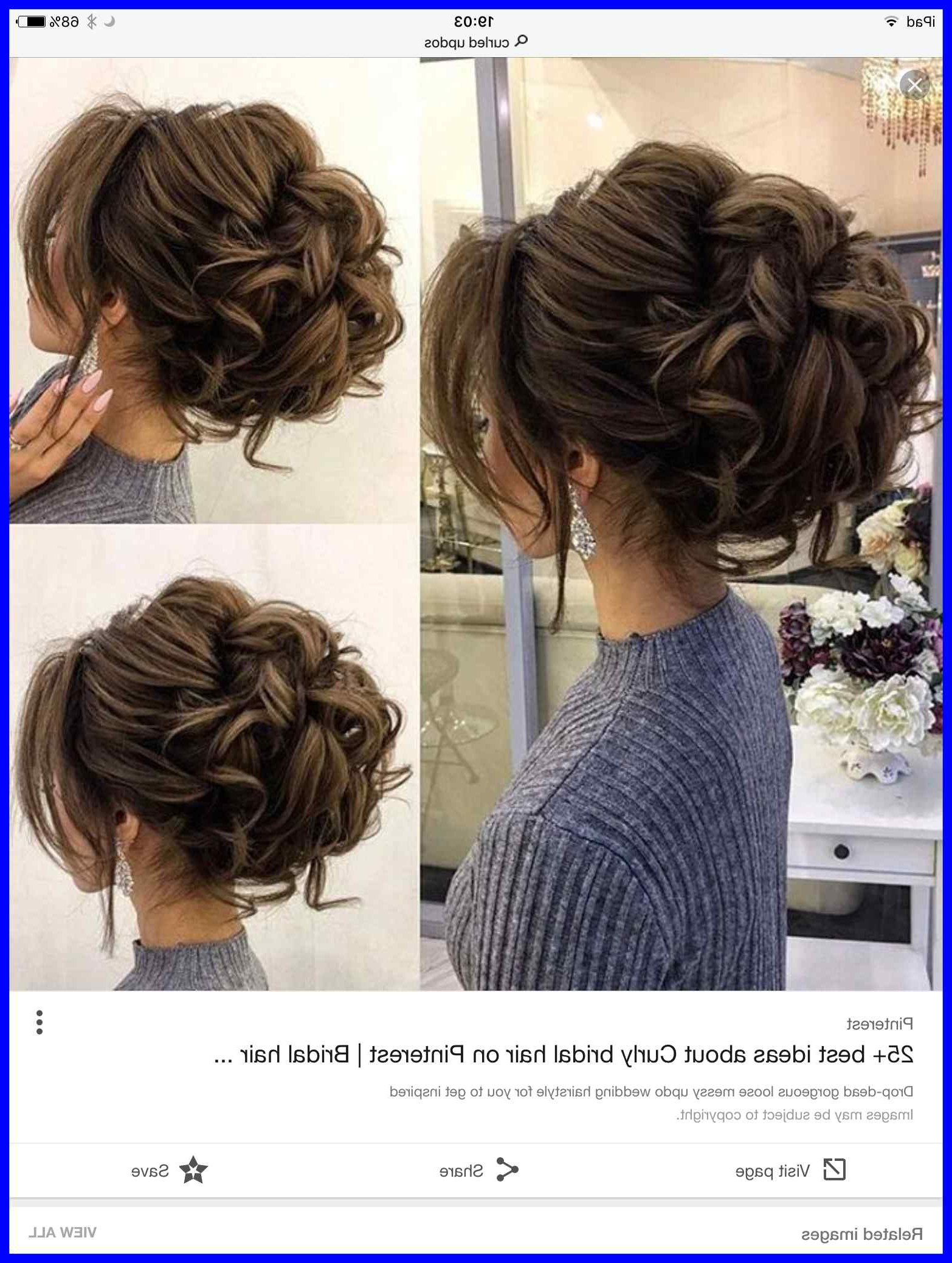 Current Pin Up Curl Hairstyles For Bridal Hair Throughout Wedding Hairstyles Updo With Veil Curls Up Dos Brides Fresh Amazing (View 4 of 20)