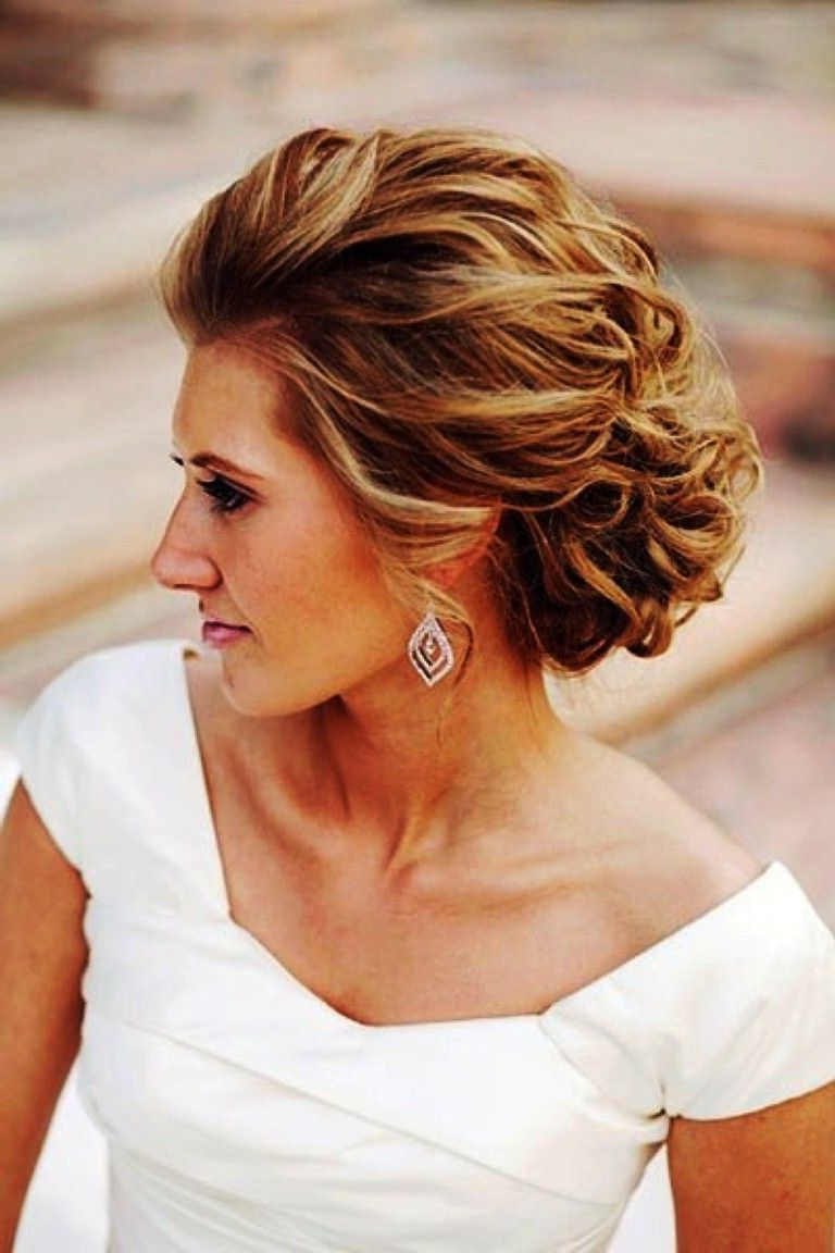 Current Short Spiral Waves Hairstyles For Brides For Hair Updos For Wedding Guest – Google Search (View 4 of 20)