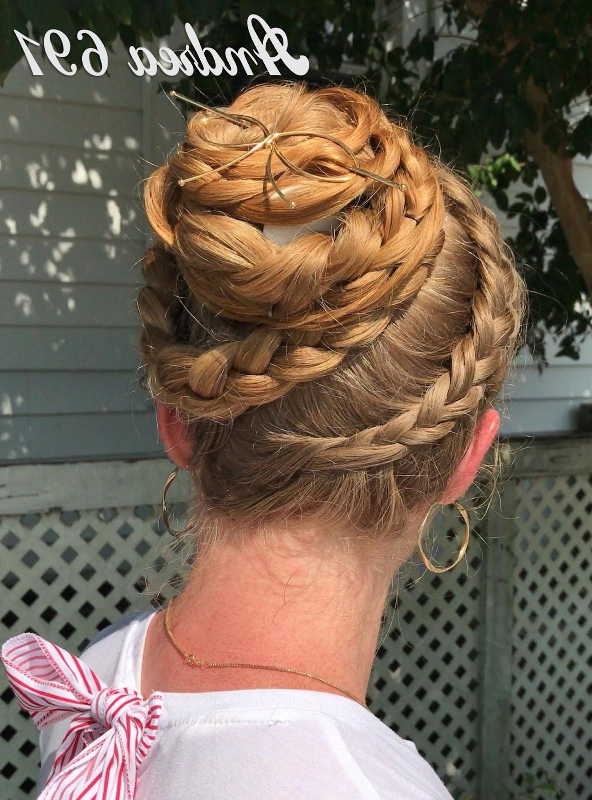 Current Spiraled Wedding Updos Regarding Braids & Hairstyles For Super Long Hair: Spiraling Braid And Bun (View 14 of 20)