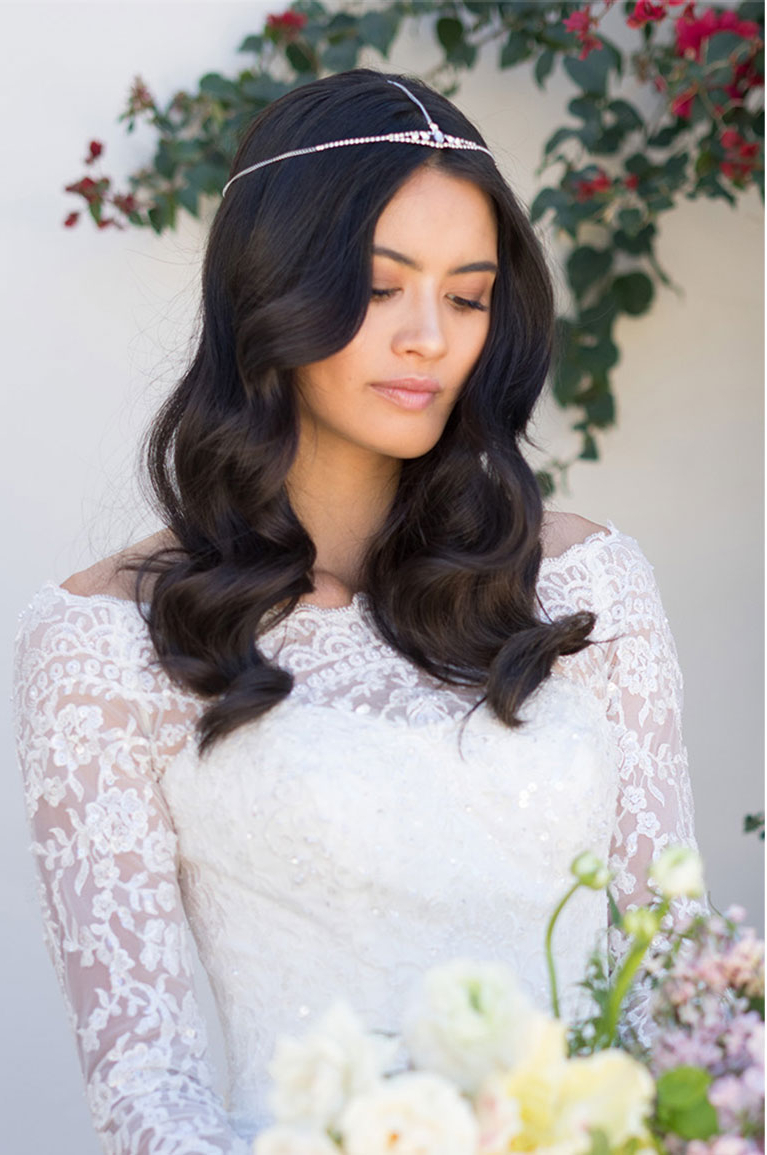 David's Bridal With Regard To Favorite Soft Wedding Updos With Headband (Gallery 20 of 20)