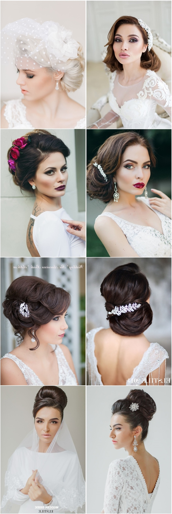 Deer Pearl Flowers Within 2017 Modern Updo Hairstyles For Wedding (View 17 of 20)
