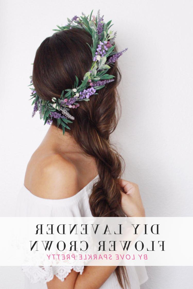 Diy Lavender Flower Crown Tutorial (View 9 of 20)