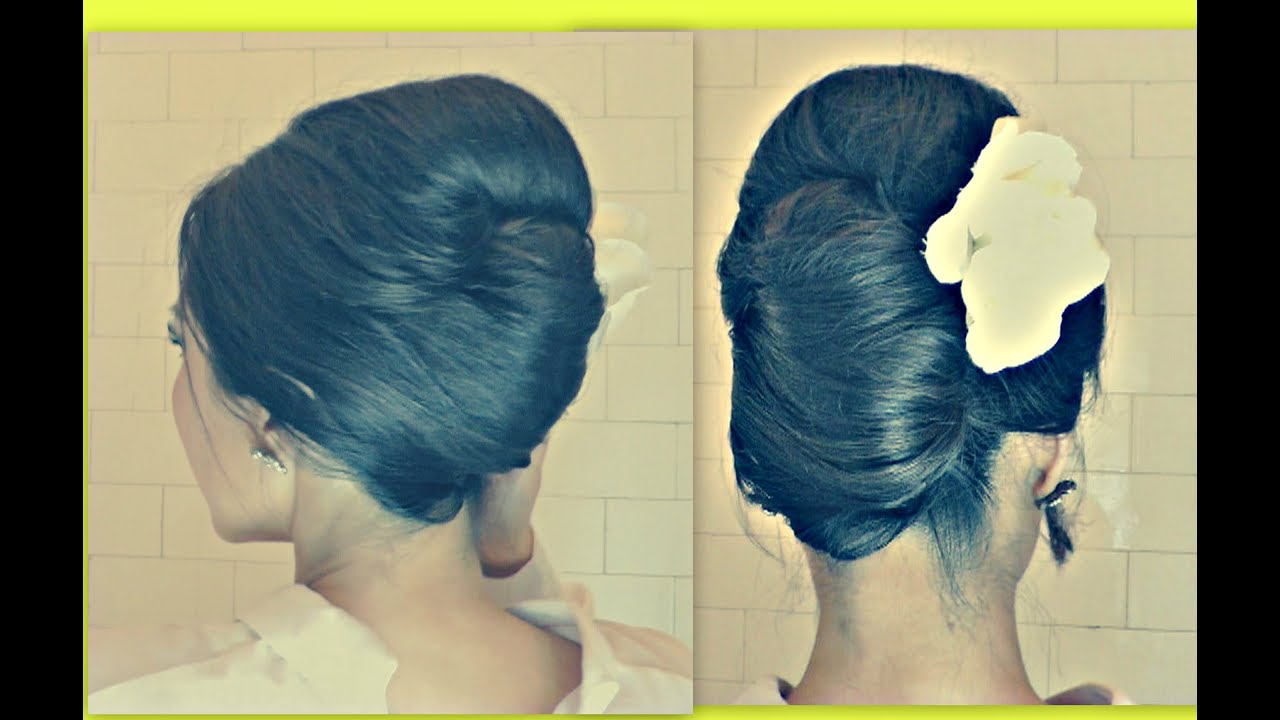 ☆Hair Tutorial Hairstyles With Big Bouffant – French Twist Your Own Pertaining To Most Recent Bouffant And Chignon Bridal Updos For Long Hair (View 1 of 20)