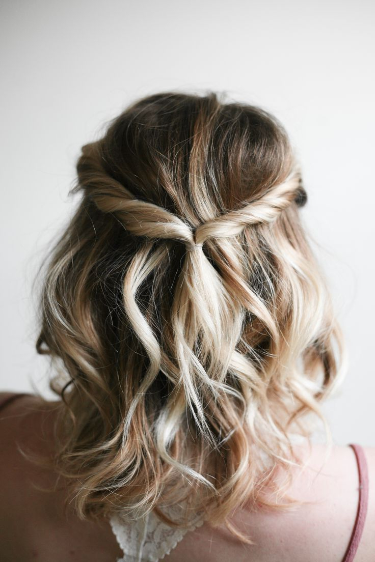 Easy Hair Ideas Inside Well Known Pulled Back Bridal Hairstyles For Short Hair (Gallery 5 of 20)
