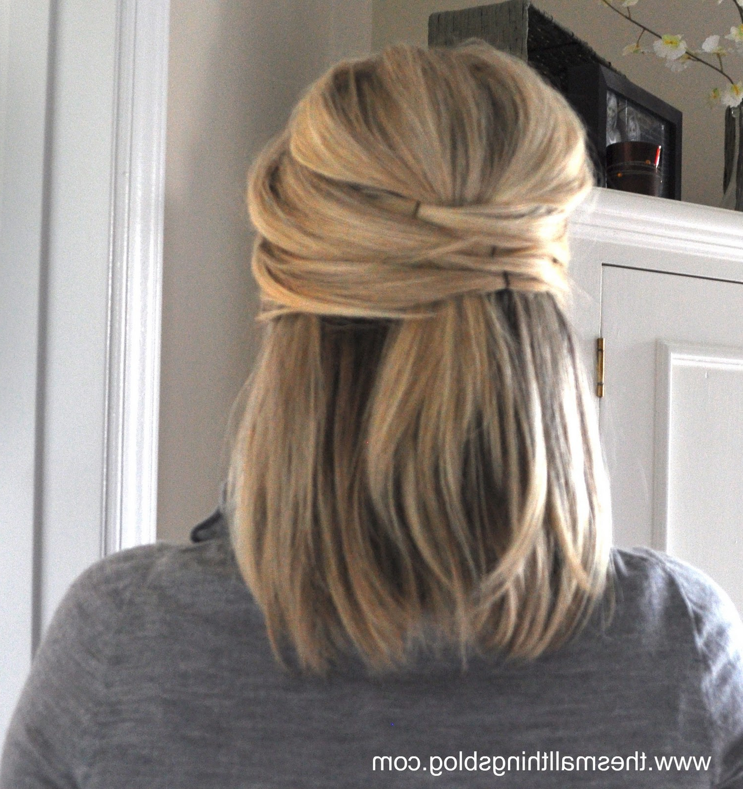 Elegant Half Up – The Small Things Blog Pertaining To Latest Crisscrossed Half Up Wedding Hairstyles (View 6 of 20)