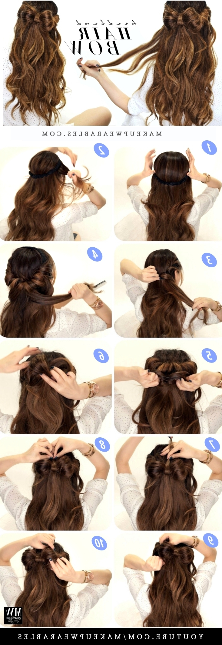 Everyday Hairstyles For Trendy Ponytail Bridal Hairstyles With Headband And Bow (Gallery 19 of 20)