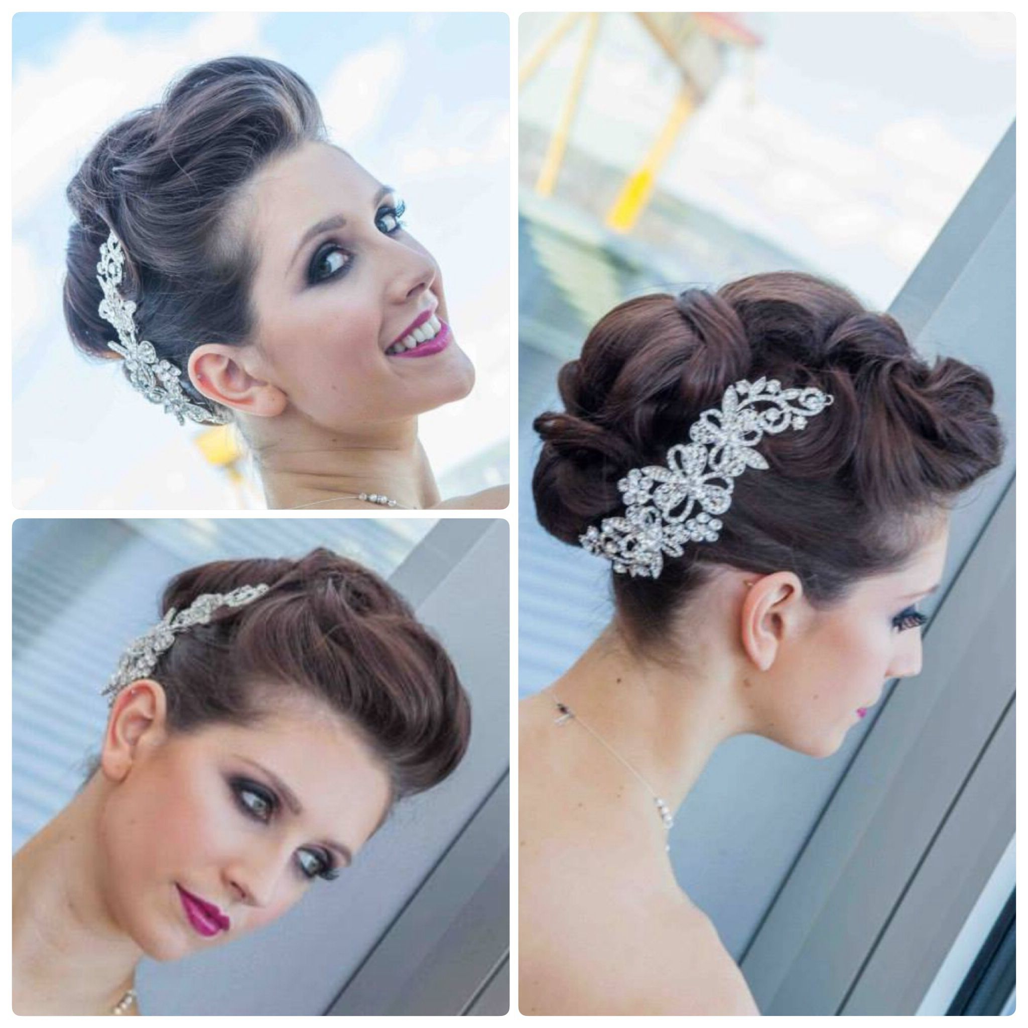Famous Formal Faux Hawk Bridal Updos Inside Wedding Hair Bride Bridal Upstlye Updo Faux Hawk Elegant (Gallery 5 of 20)