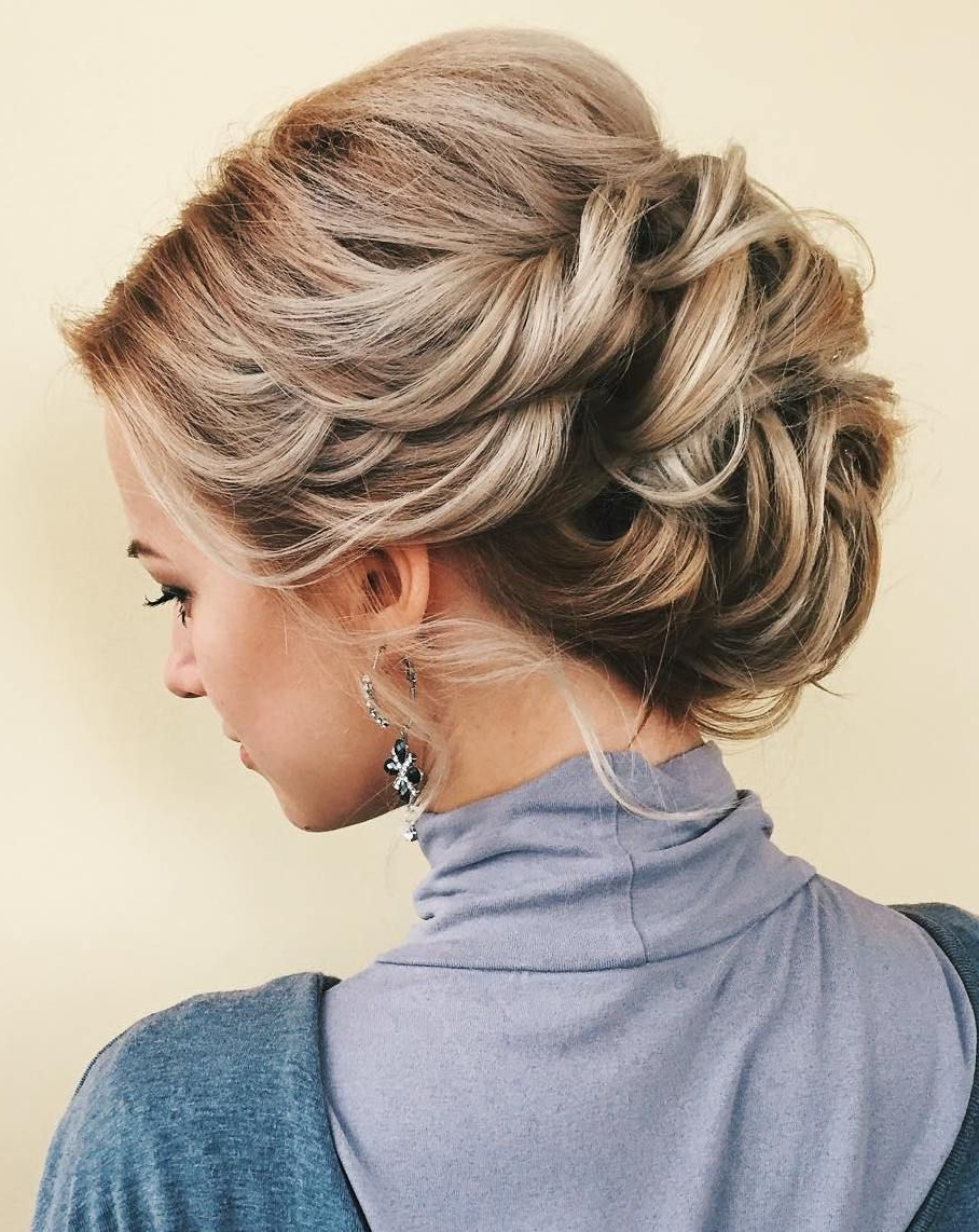 Famous Large Curly Bun Bridal Hairstyles With Beaded Clip Intended For 60 Updos For Thin Hair That Score Maximum Style Point (Gallery 5 of 20)