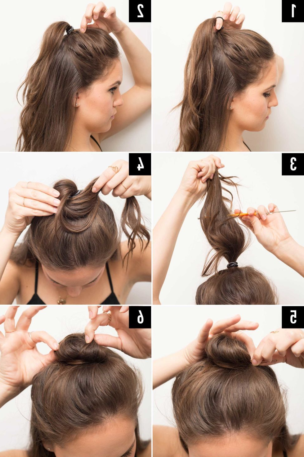 Famous Medium Half Up Half Down Bridal Hairstyles With Fancy Knots In 16 Genius Half Bun Hacks You Need To Know About (View 6 of 20)