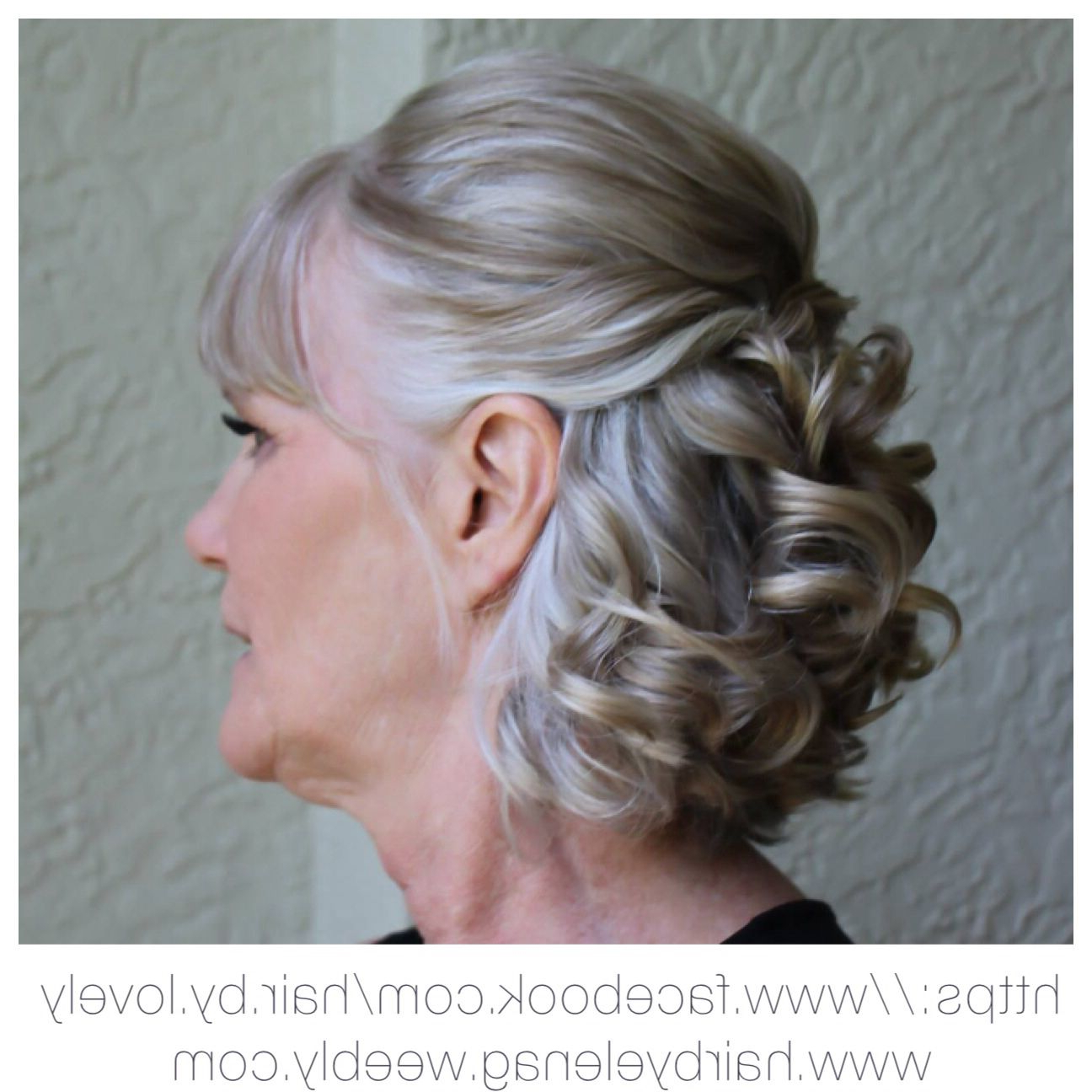 Famous Messy Woven Updo Hairstyles For Mother Of The Bride For Pingonul Shishko On After50agehair In (View 18 of 20)