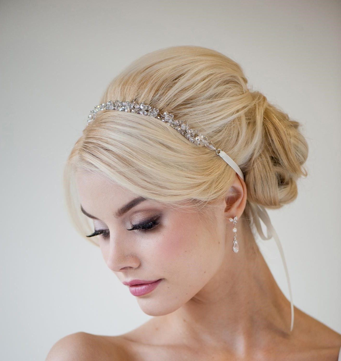 Famous Neat Bridal Hairdos With Headband With Wedding Hair Updo With Headband (Gallery 3 of 20)