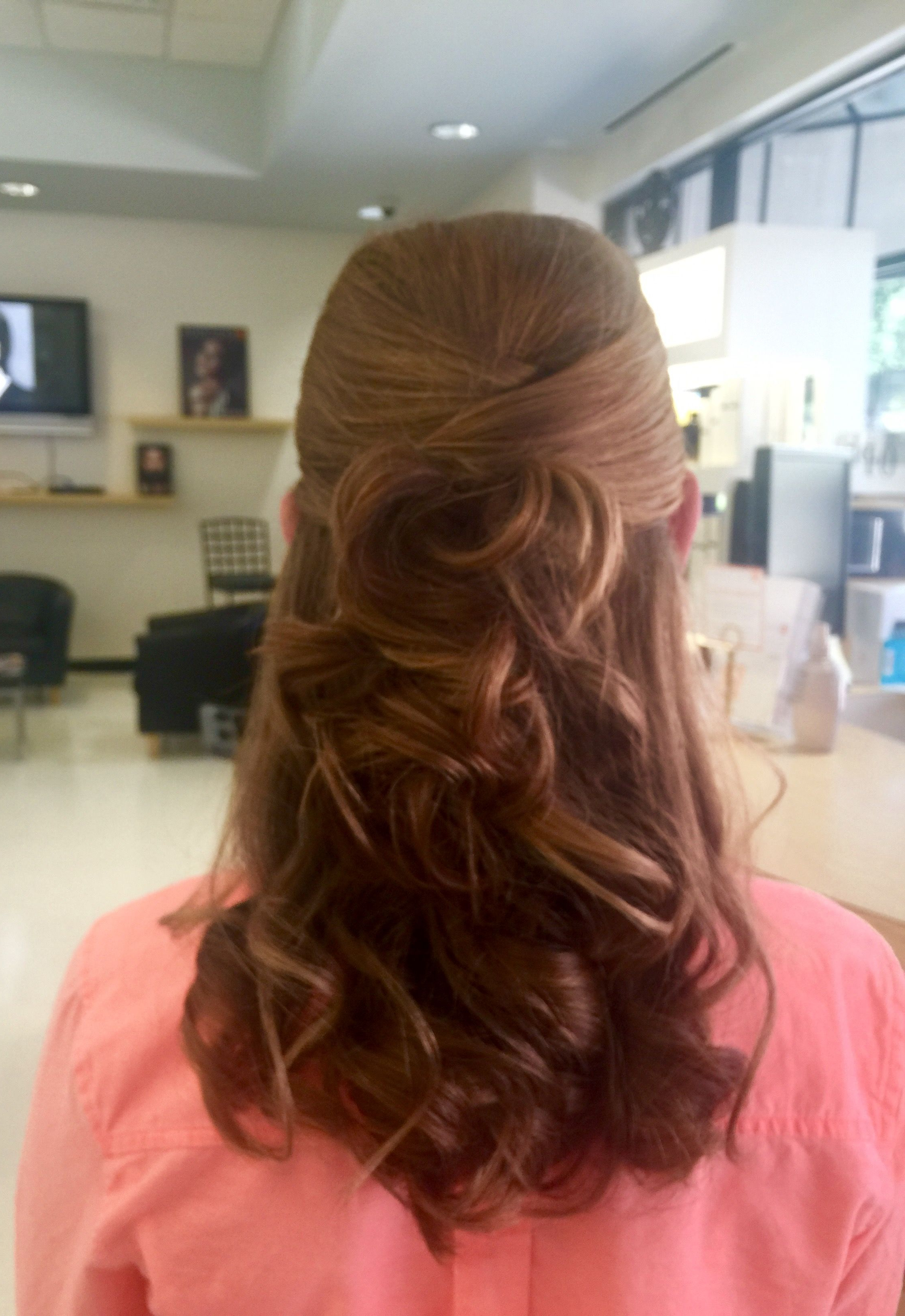 Fashionable Criss Cross Wedding Hairstyles Throughout Criss Cross Half Up Half Down Updo W/ Loose Curls (View 3 of 20)