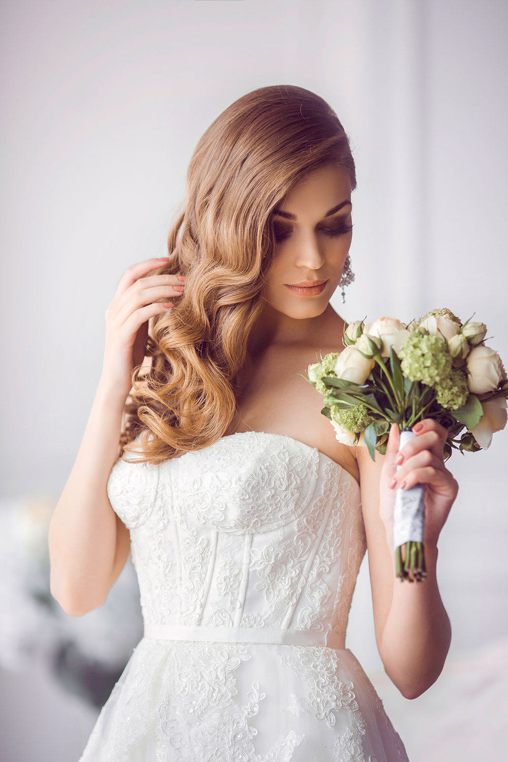 Fashionable Sides Parted Wedding Hairstyles In Gorgeous Wedding Hairstyles For Ladies – Lightupmirrors (View 9 of 20)