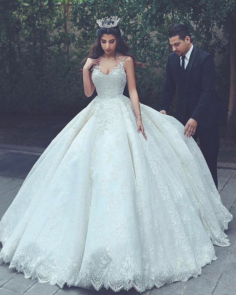 Fashionable Sleek And Big Princess Ball Gown Updos For Brides In Lace Wedding Gowns,princess Wedding Dress,ball Gowns Wedding Dress (Gallery 7 of 20)