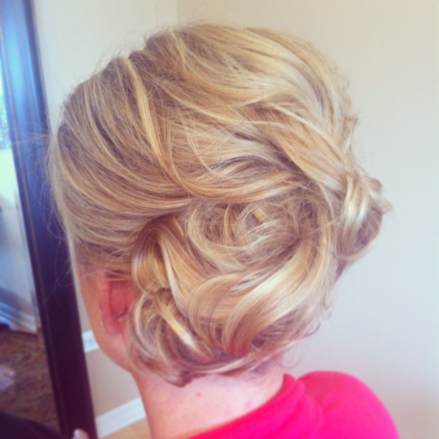 Favorite Curls Clipped To The Side Bridal Hairstyles Within Low Side Bun With Loose Curls Pinned Up. Bridal Hair Styles (View 3 of 20)