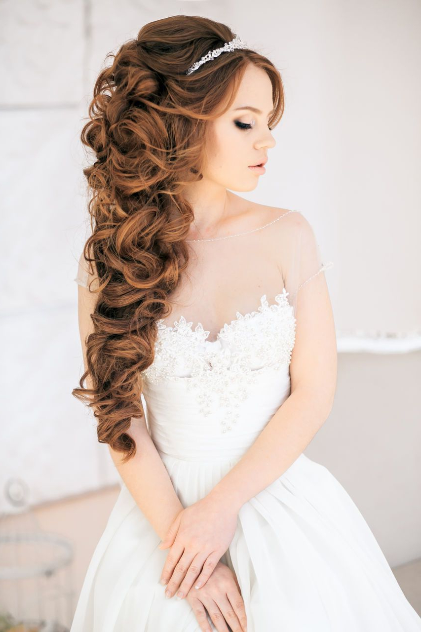 Favorite Loose Curls Hairstyles For Wedding Inside Gallery Wedding Hairstyles Curls Ideas For Brides: Down Curls, Soft (View 6 of 20)