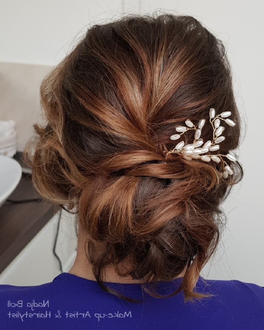 Favorite Loose Updo Wedding Hairstyles With Whipped Curls Inside 28 Cute & Easy Updos For Long Hair (2019 Trends) (View 7 of 20)