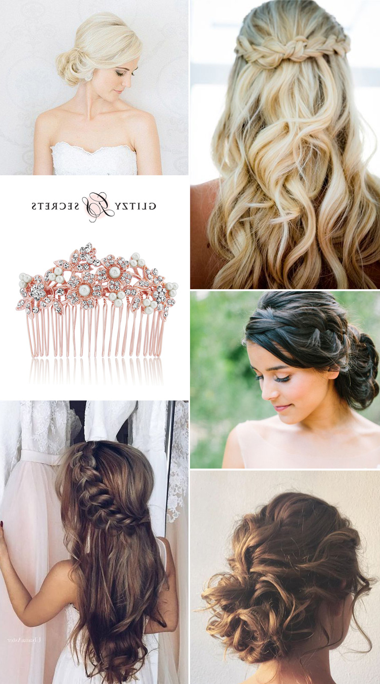 Favorite Modern Updo Hairstyles For Wedding Inside Bridal Hairstyles: Classic Or Modern? – Glitzy Secrets (View 8 of 20)