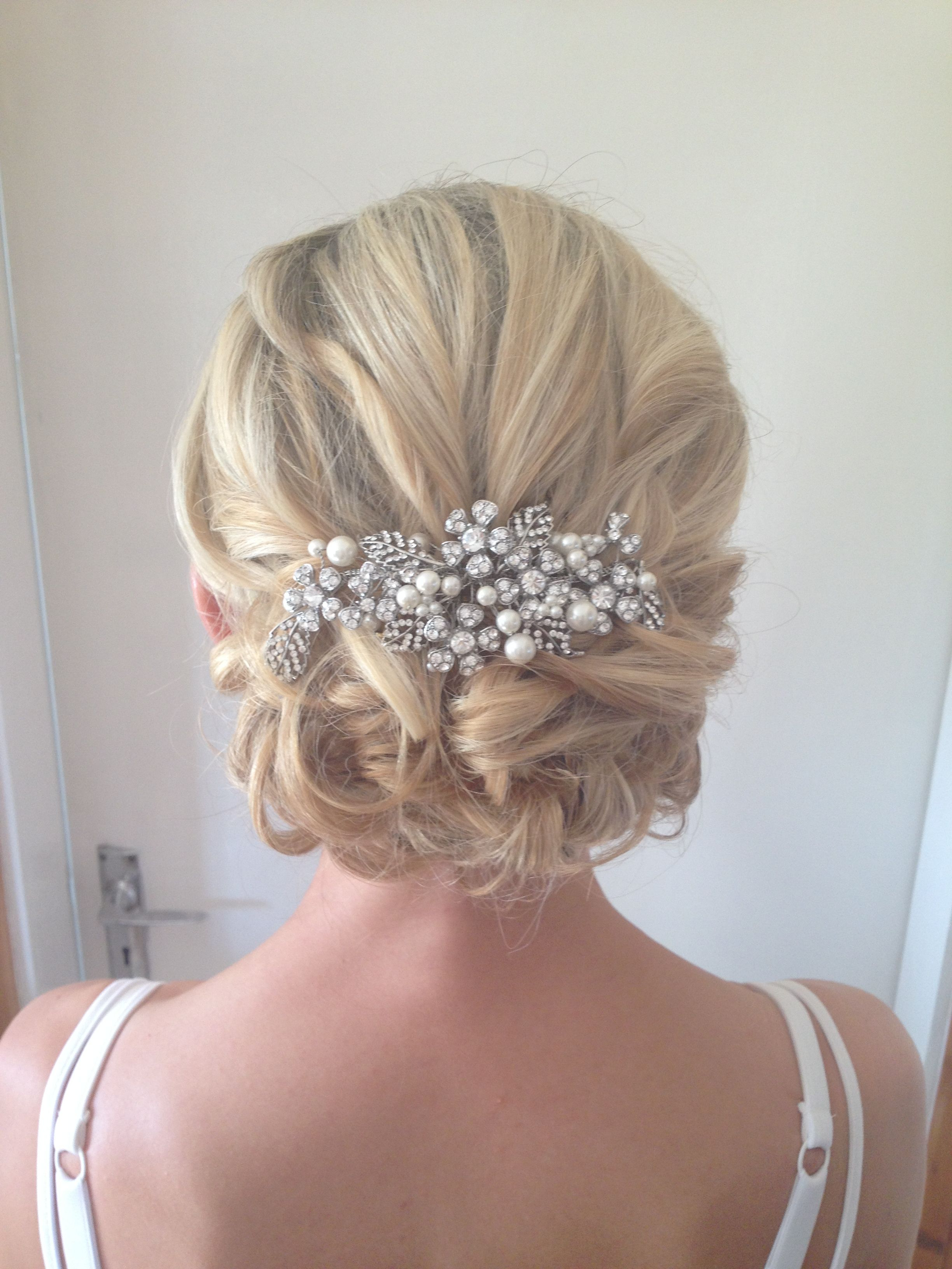 Favorite Pulled Back Half Updo Bridal Hairstyles With Comb For Wedding Hairstyles In (View 6 of 20)