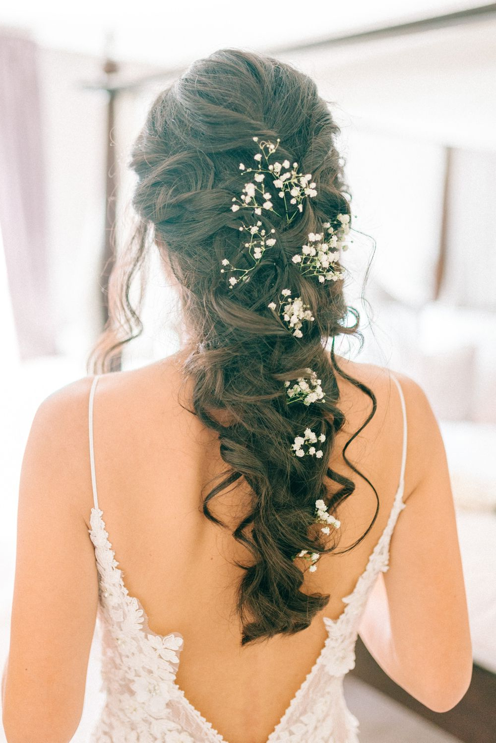 Favorite Pulled Back Layers Bridal Hairstyles With Headband In Godwick Hall Wedding With Bride In Anna Georgina (View 10 of 20)