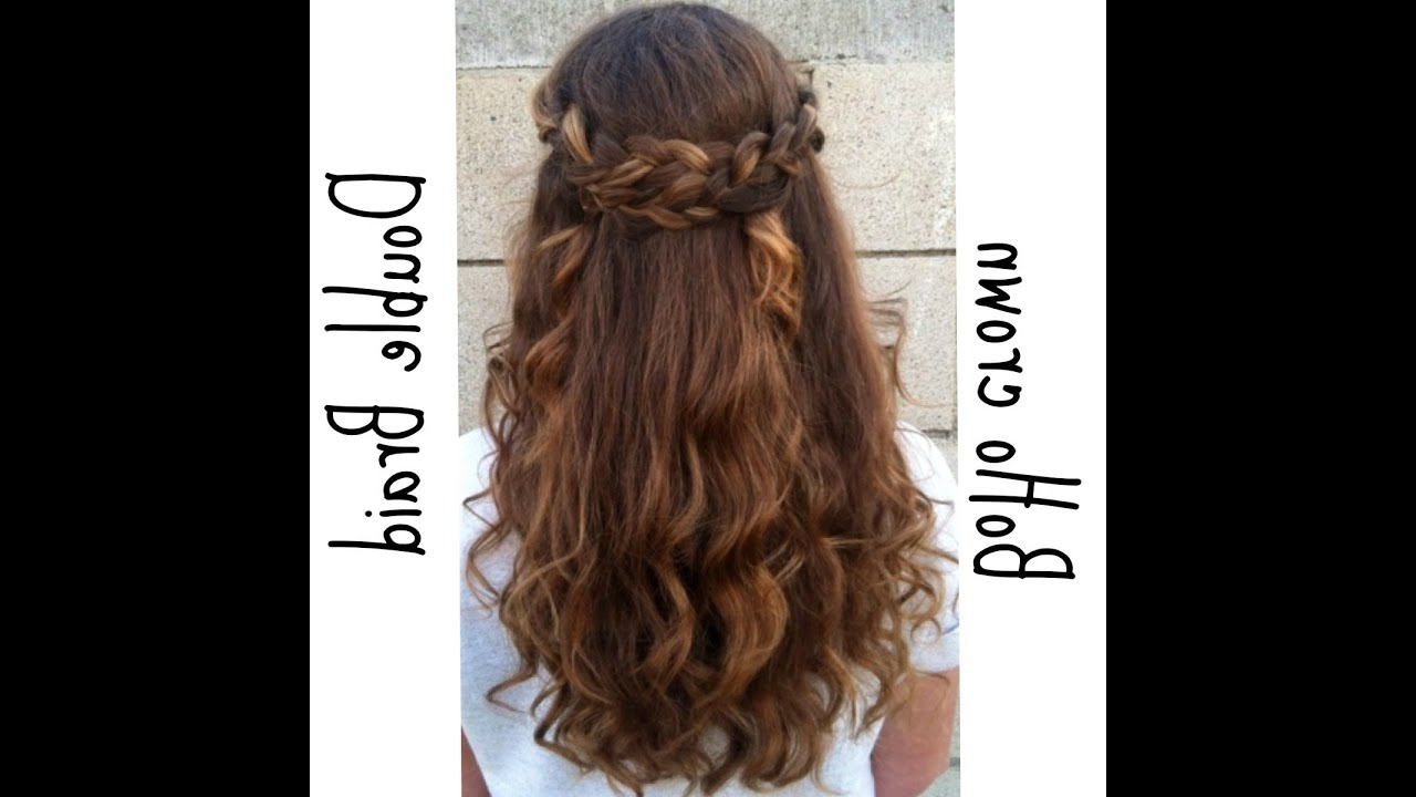 Favorite Simplified Waterfall Braid Wedding Hairstyles Inside Braided Half Up Half Down Hairstyle – Youtube (View 9 of 20)