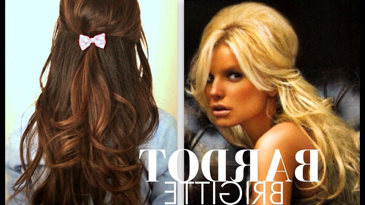 Favorite Teased Half Up Bridal Hairstyles With Headband Throughout ☆ Cute Brigitte Bardot Hair Tutorial (View 10 of 20)
