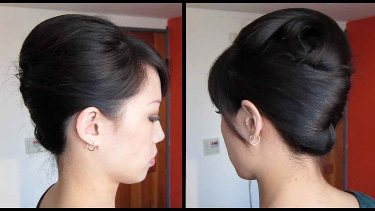 French Twist Tutorial Updo For Long, Thick Hair – Youtube Intended For Most Up To Date Sleek French Knot Hairstyles With Curls (View 4 of 20)
