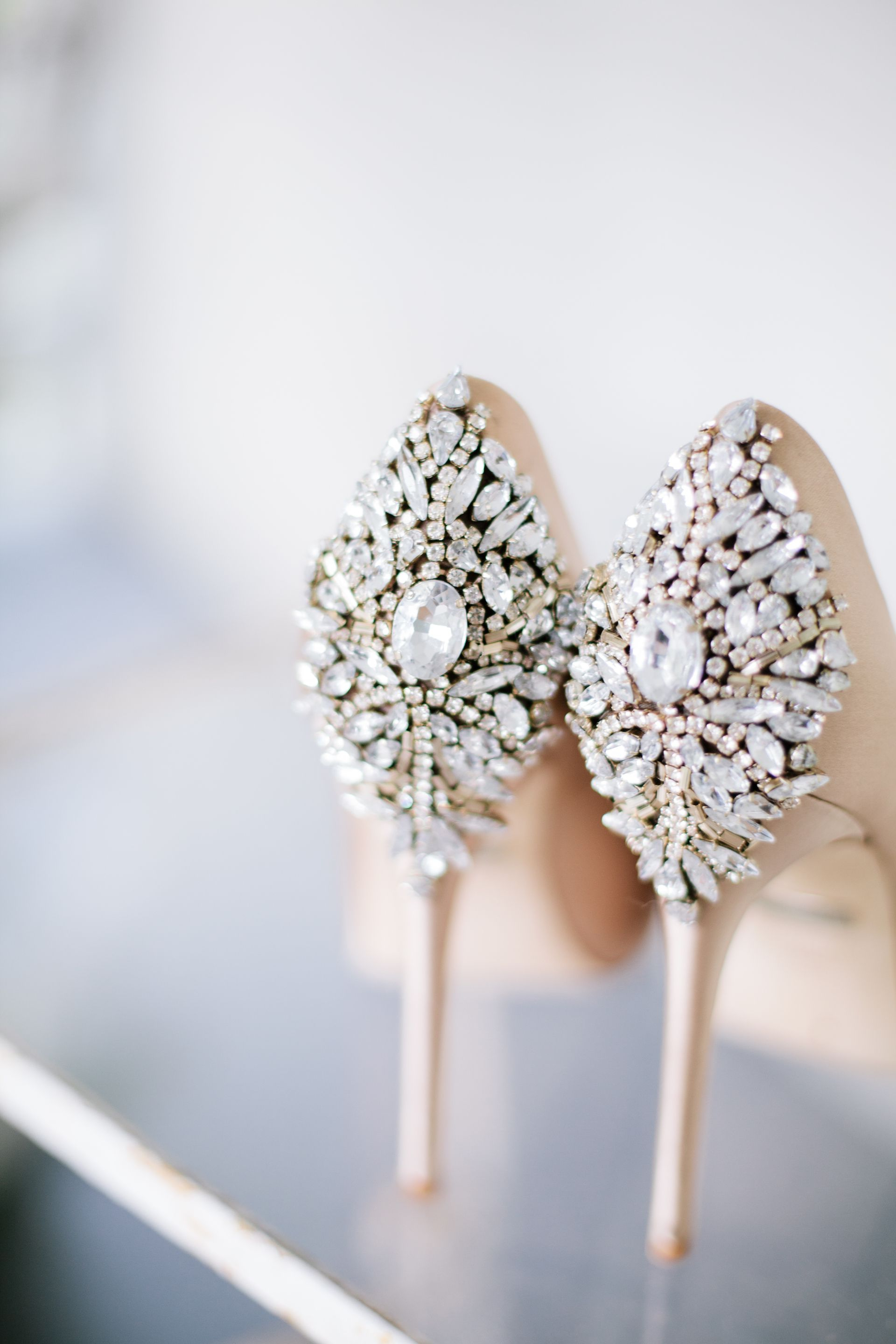Glam Wedding Shoes, Jewel Encrusted Heels, Bedazzled Bridal Shoes Inside Popular Bedazzled Chic Hairstyles For Wedding (Gallery 11 of 20)