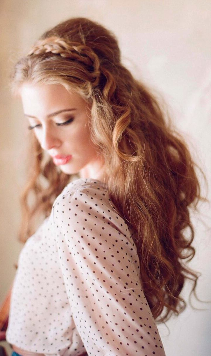 Gorgeous Bohemian Hairstyle With Loose Curls And Delicate Braids In Well Known Darling Bridal Hairstyles With Circular Twists (Gallery 14 of 20)