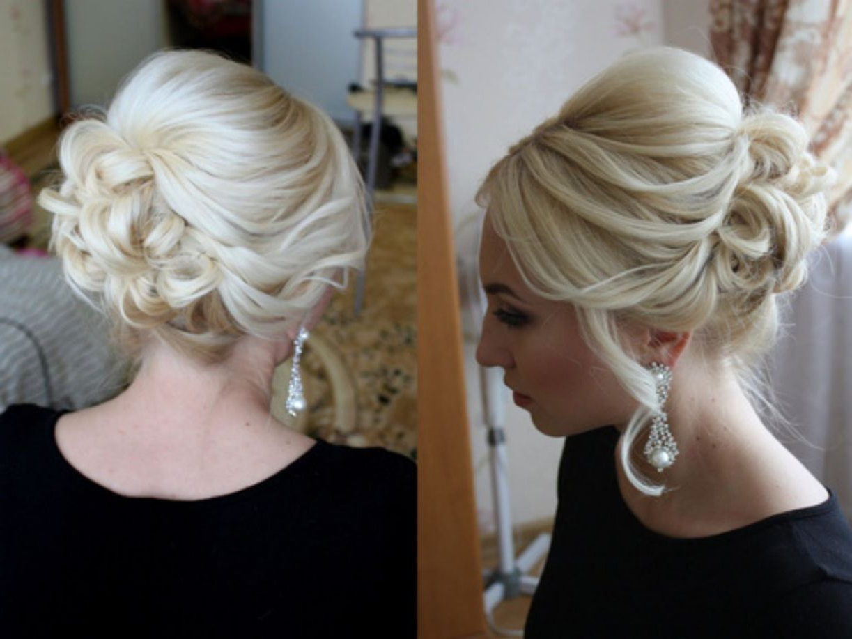 Hair And Makeup Intended For Most Recently Released Bridal Mid Bun Hairstyles With A Bouffant (View 10 of 20)