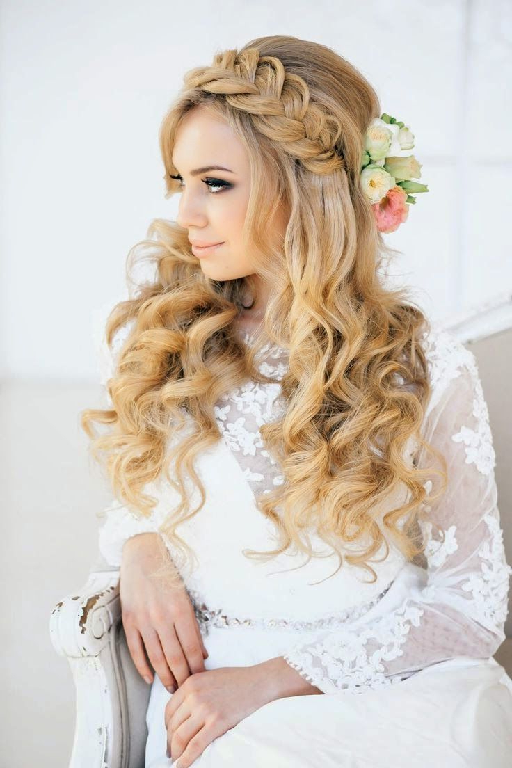 Hair, Hair Styles, Wedding Inside Latest Tender Shapely Curls Hairstyles For A Romantic Wedding Look (View 7 of 20)