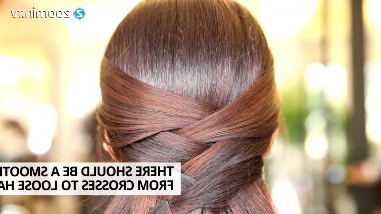 Hair Styles: Criss Cross Half Updo – How To In 60 Seconds! – Youtube For Widely Used Criss Cross Wedding Hairstyles (View 6 of 20)