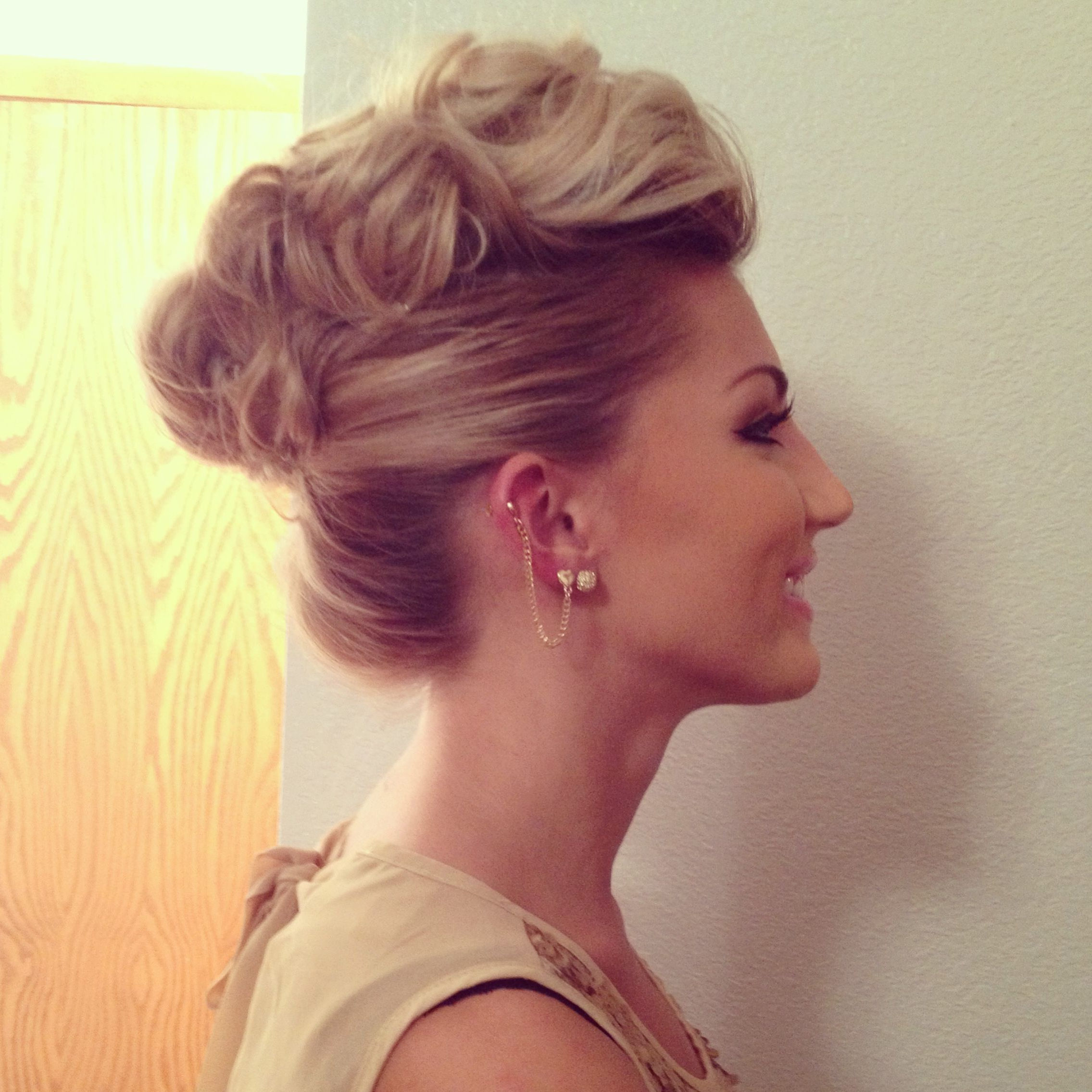 Hair Styles, Hair Pertaining To Most Recent Pompadour Bun Hairstyles For Wedding (View 1 of 20)