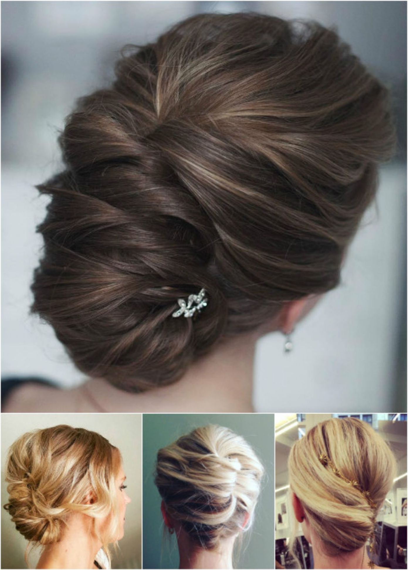 Hair Styles, Hair Throughout Most Up To Date Messy French Roll Bridal Hairstyles (Gallery 5 of 20)