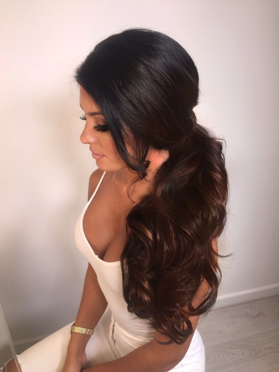 Hair Styles, Hair With Most Current Curly Ponytail Wedding Hairstyles For Long Hair (View 10 of 20)