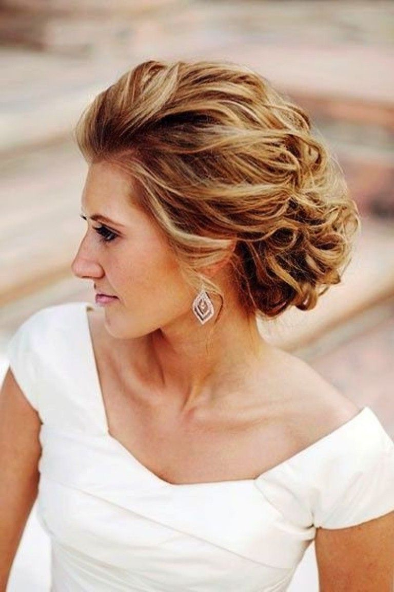Hair Within Fashionable Curly Wedding Updos For Short Hair (View 2 of 20)