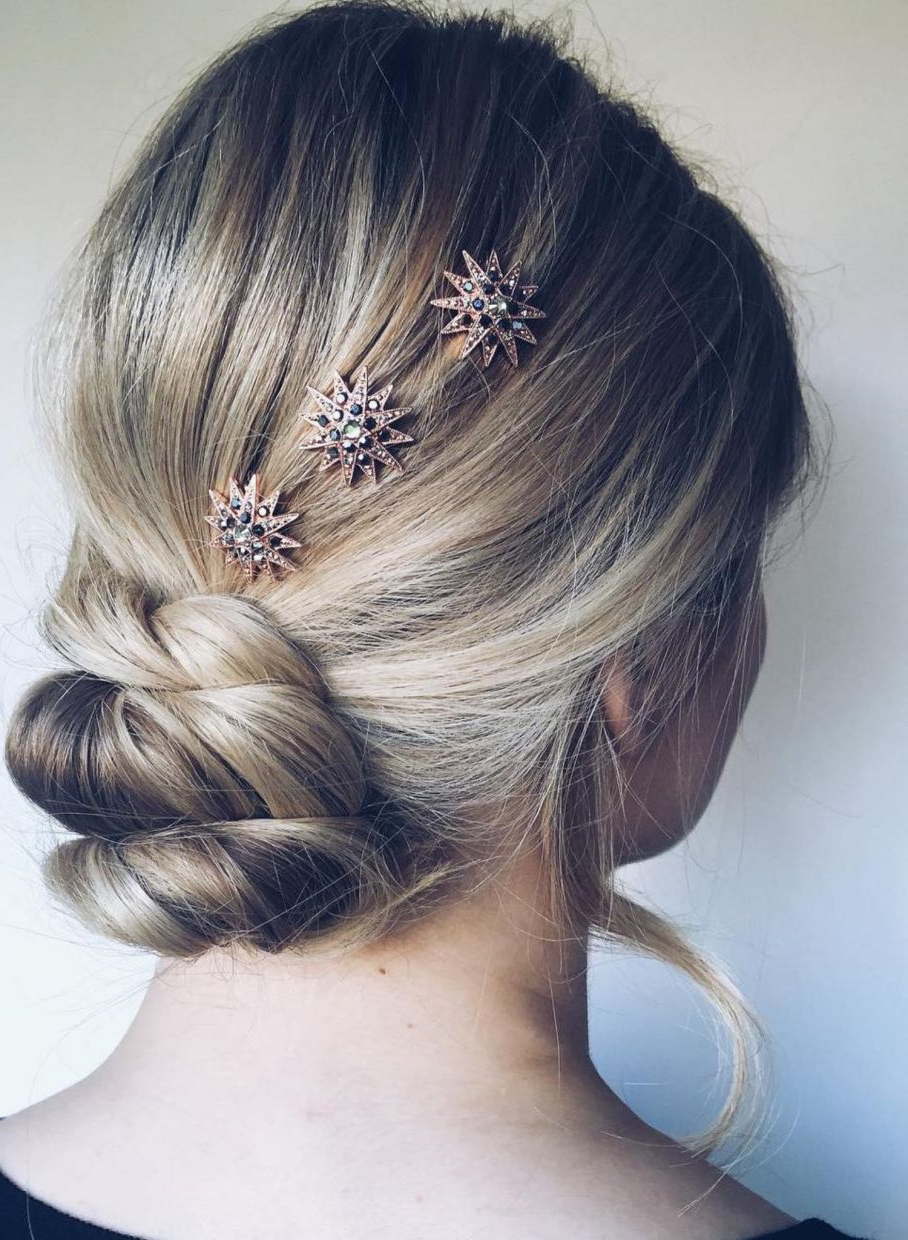 Hair Within Most Up To Date Low Twisted Bun Wedding Hairstyles For Long Hair (View 3 of 20)