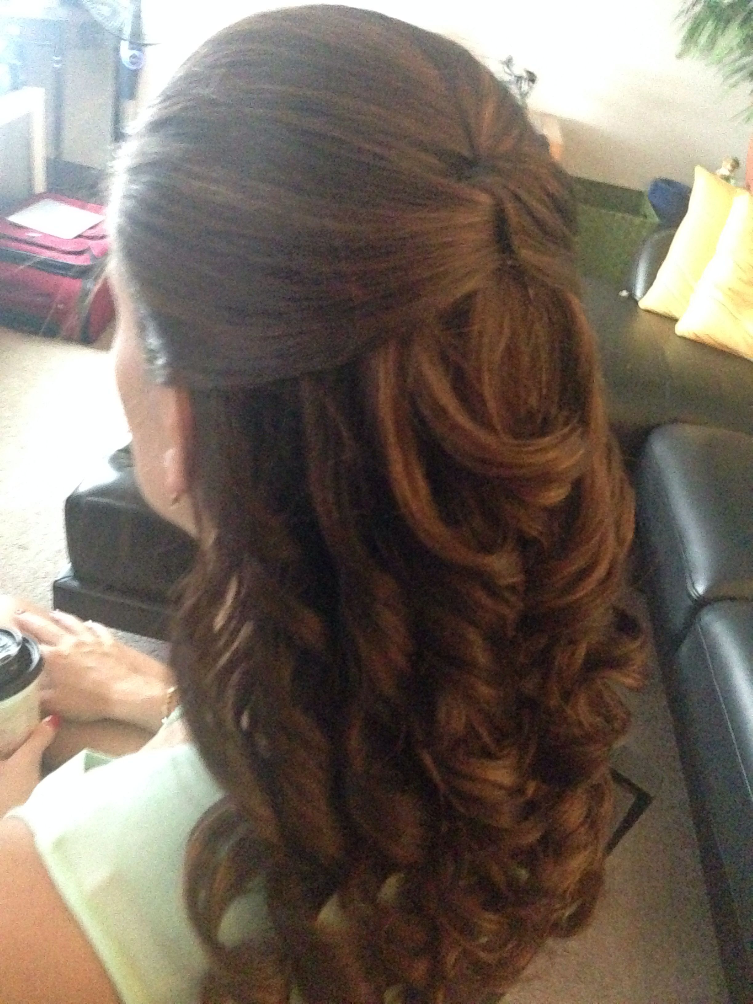 Half Up Do With Curls For A Casual Or Wedding Event Hairstyle Within Favorite Short Spiral Waves Hairstyles For Brides (View 11 of 20)