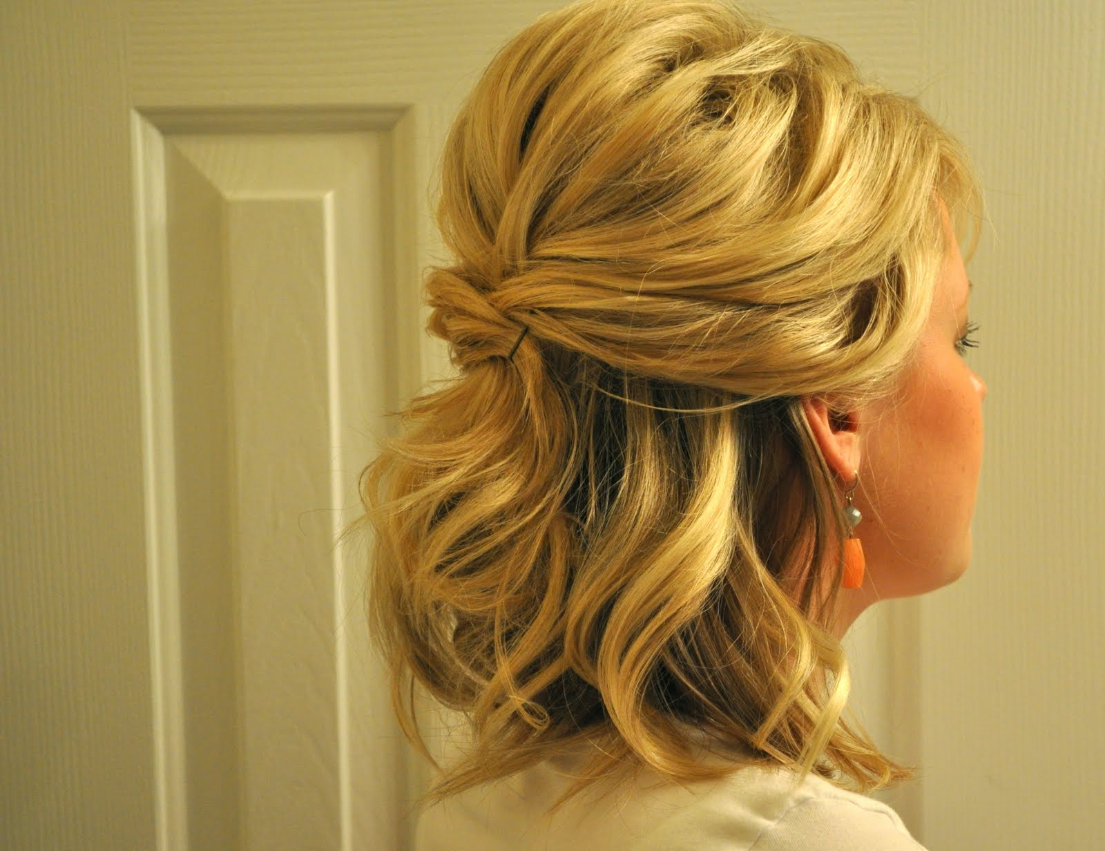 Half Up To Full Updo – The Small Things Blog Within Well Known Teased Half Up Bridal Hairstyles With Headband (View 5 of 20)