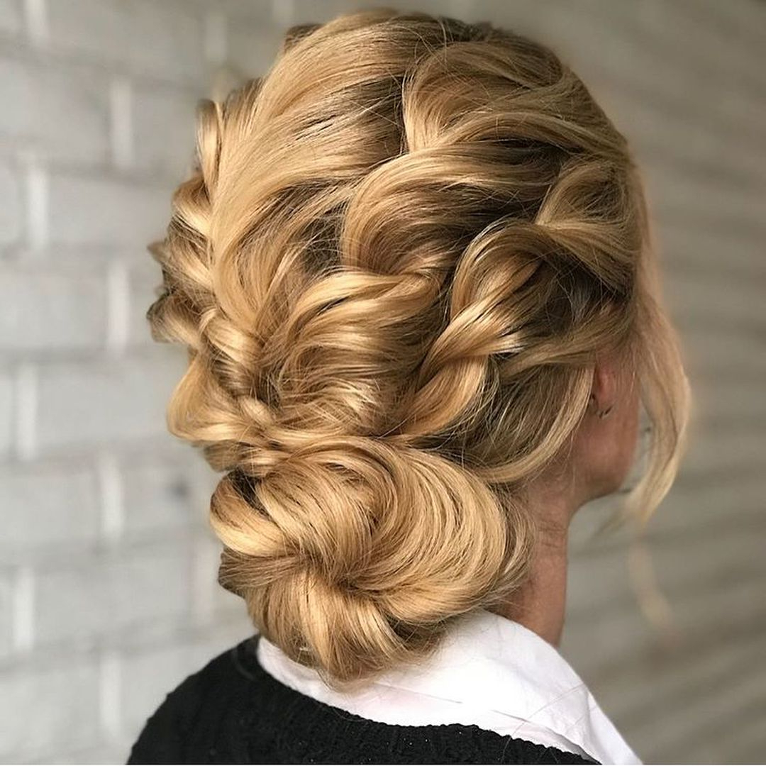Hese Are Not Your Average School Girl Braids! These Are Serious With Fashionable Diagonal Waterfall Braid In Half Up Bridal Hairstyles (View 8 of 20)