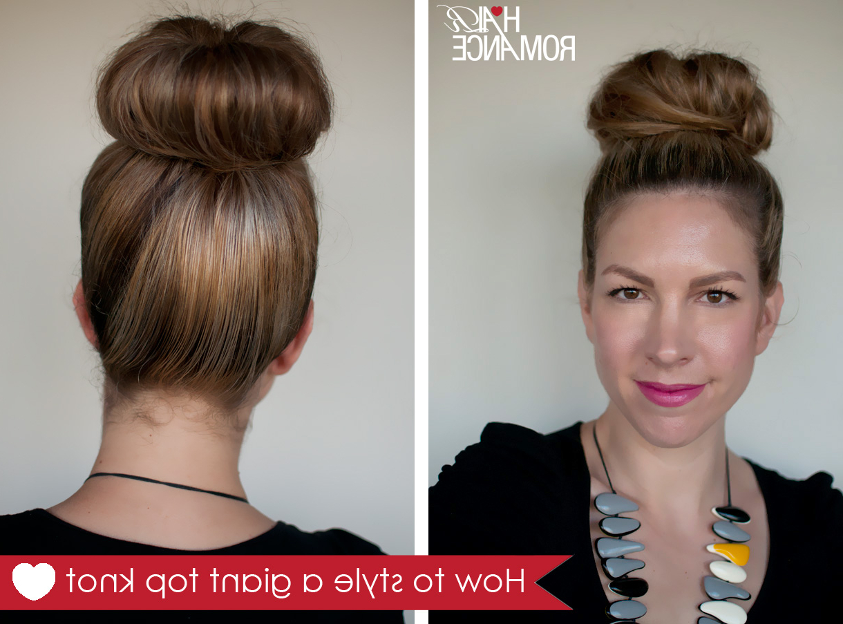How To Style A Giant Top Knot When You Don't Have A Lot Of Hair Throughout Most Popular Large Bun Wedding Hairstyles With Messy Curls (View 14 of 20)