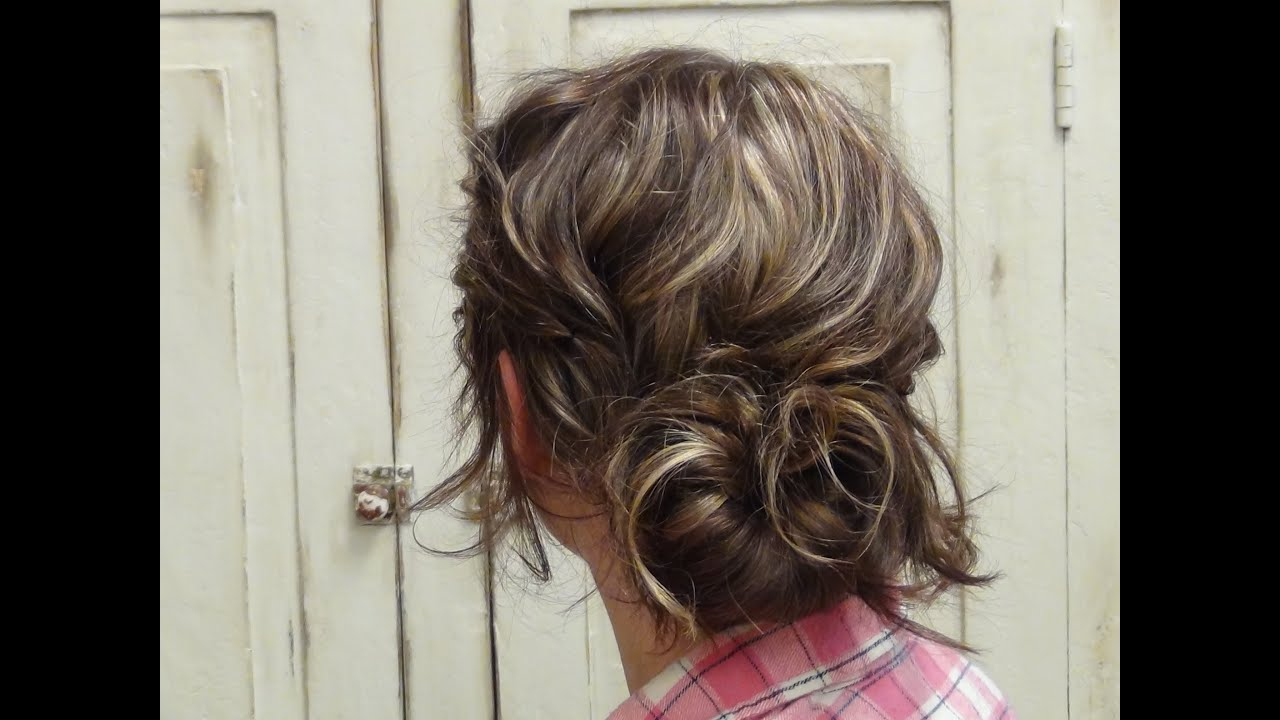 How To Style Cute Low Messy Bun Updo Hairstyles – Youtube Inside Famous Messy Bun Wedding Hairstyles For Shorter Hair (View 13 of 20)