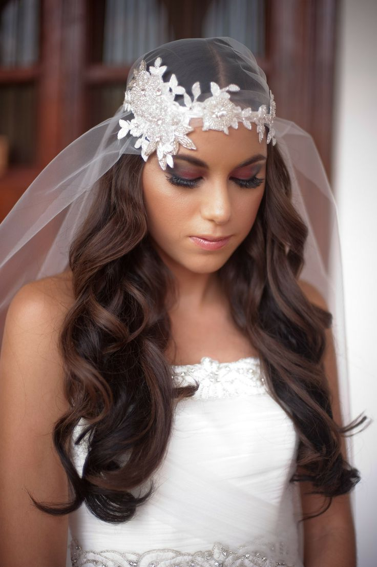 Juliet Cap Veil Hairstyles With Most Popular Veiled Bump Bridal Hairstyles With Waves (View 13 of 20)