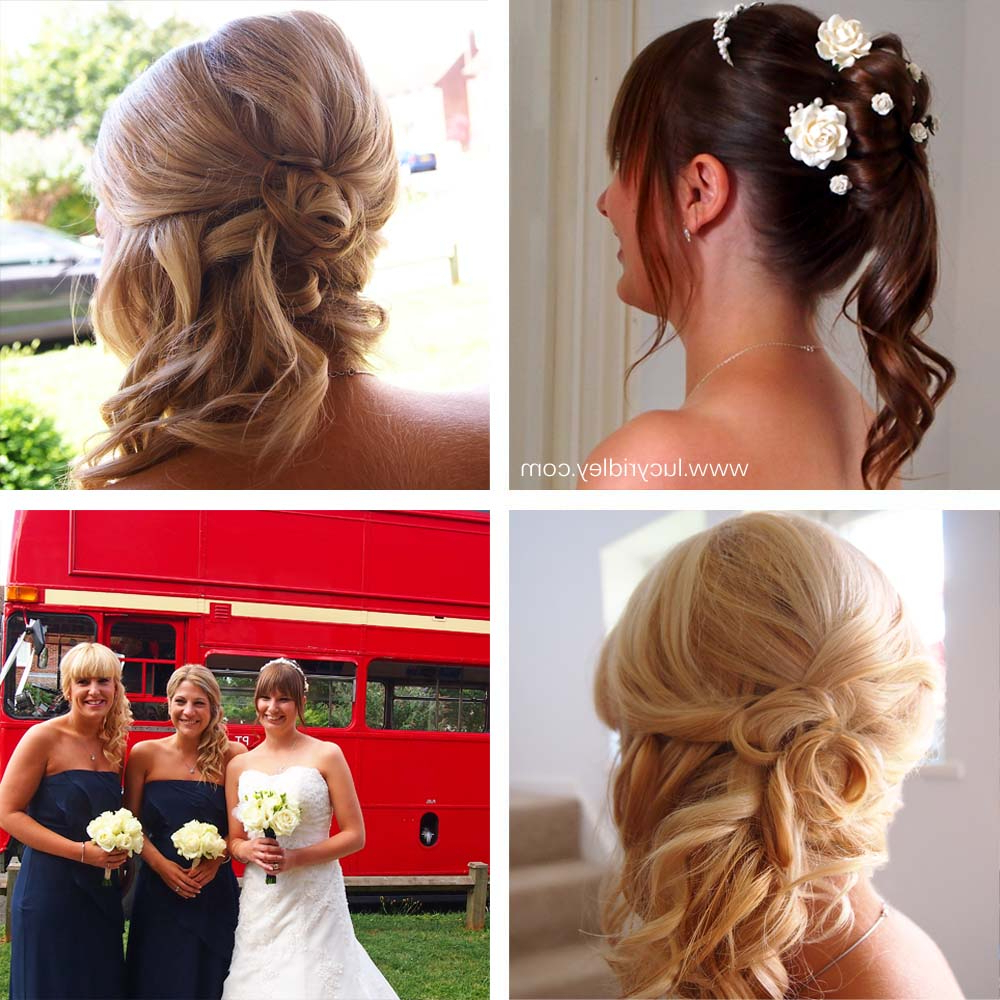 Latest Curls Clipped To The Side Bridal Hairstyles In 100 Days Of Makeup And Its Bestfriends: Bridal Beauty (curls And (Gallery 2 of 20)