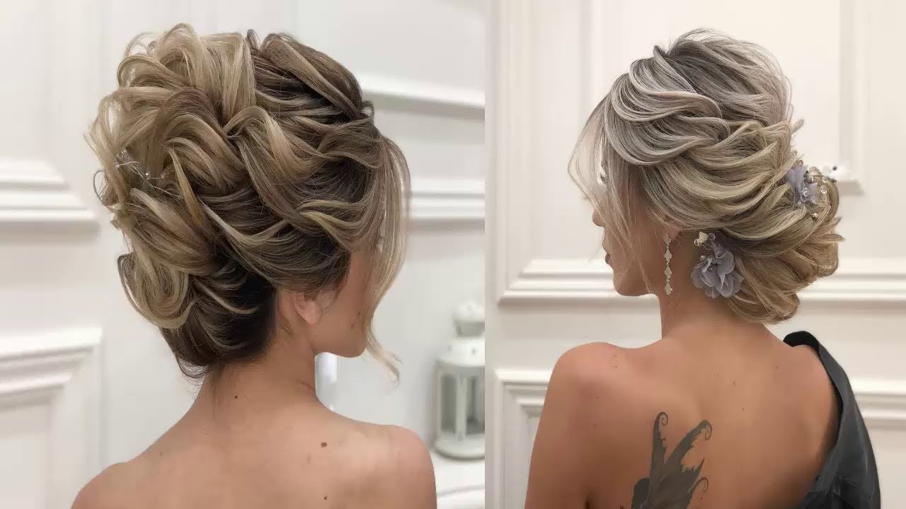 Latest Curly Bun Bridal Updos For Shorter Hair Within Bridal Hairstyles For Short Hair Tutorial – Wedding Updos For Short (View 6 of 20)